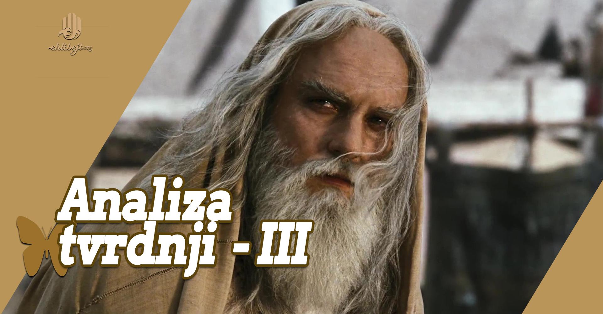 Analiza tvrdnji onih koji vjeruju u nevjerstvo Ebu Taliba (III)